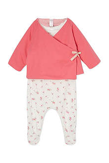 PETIT BATEAU Reversible printed two-piece set