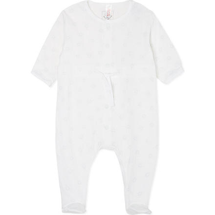 PETIT BATEAU Unisex star sleepsuit 0-24 months (Off white/germain