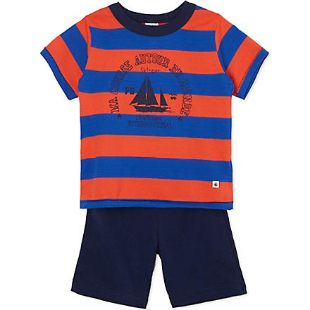 PETIT BATEAU Striped cotton pyjamas 2-12 years (Multicolor