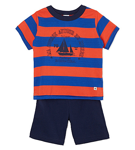 PETIT BATEAU Striped cotton pyjamas 2-12 years (Multicolor