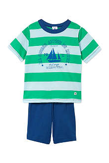 PETIT BATEAU Boys short cotton striped pyj