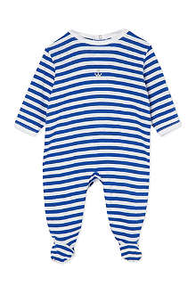 PETIT BATEAU Striped sleepsuit small newborn-24 months
