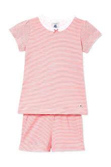PETIT BATEAU Girls milleraies striped cott