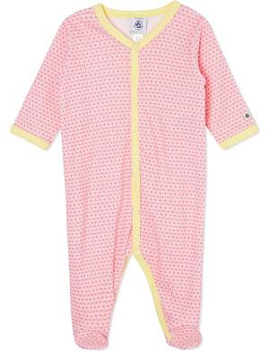 PETIT BATEAU Patterned sleepsuit 0-24 months