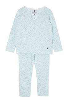 PETIT BATEAU Floral cotton pyjamas 2-12 years
