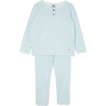 PETIT BATEAU Floral cotton pyjamas 2-12 years (Multicolor