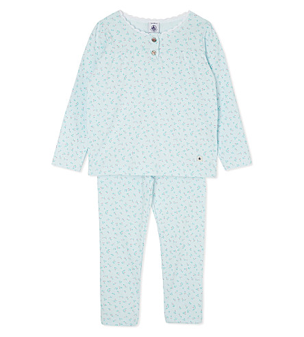 PETIT BATEAU Floral cotton pyjamas 2-12 years (Multicolor
