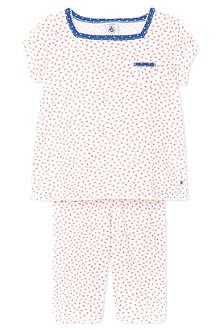 PETIT BATEAU Short flower print pyjamas 2-12 years