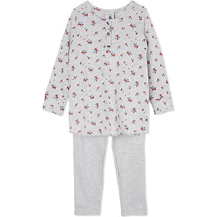 PETIT BATEAU Rose pyjamas set 2-12 years (Poussiere/multicolor