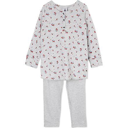 PETIT BATEAU Rose pyjamas set 2-12 years (Poussiere/multicolor