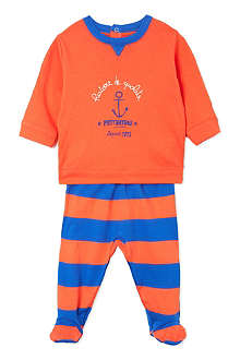 PETIT BATEAU Striped cotton pyjamas 3-24 months
