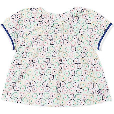 PETIT BATEAU Patterned blouse 3-36 months (Beige/multicolor