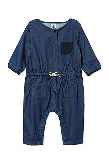 PETIT BATEAU Baby girl long jumpsuit in mic