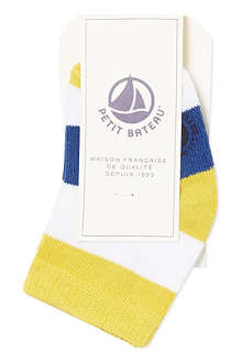 PETIT BATEAU Striped cotton socks 3-12 months