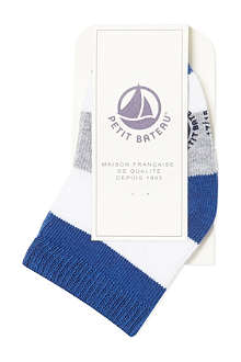PETIT BATEAU Striped cotton socks 3-24 months