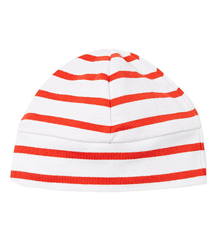 PETIT BATEAU Sailor hat 3-24 months (Red / milk white