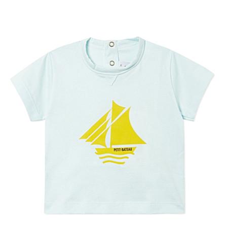 PETIT BATEAU Logo print t-shirt 3-36 months (Transparent