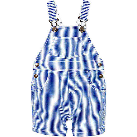PETIT BATEAU Striped dungarees 3-36 months (Dark blue/off white