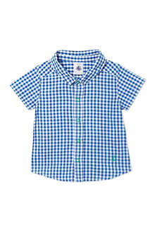 PETIT BATEAU Short sleeved gingham shirt 3-36 months
