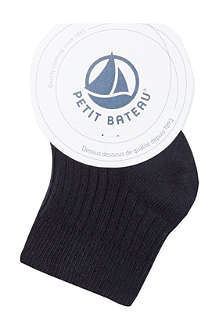 PETIT BATEAU Ribbed cotton socks 3-12 months