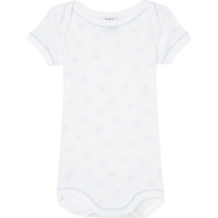 PETIT BATEAU Stars bodysuit 1 month-4 years (Off white/grey
