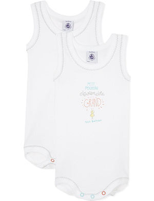 PETIT BATEAU Pack of two bodysuits 1-36 months