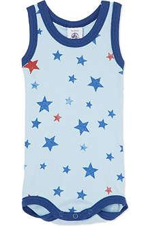 PETIT BATEAU Stars sleeveless bodysuit 3-36 months