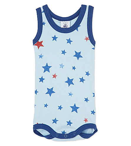 PETIT BATEAU Stars sleeveless bodysuit 3-36 months (Multicolor