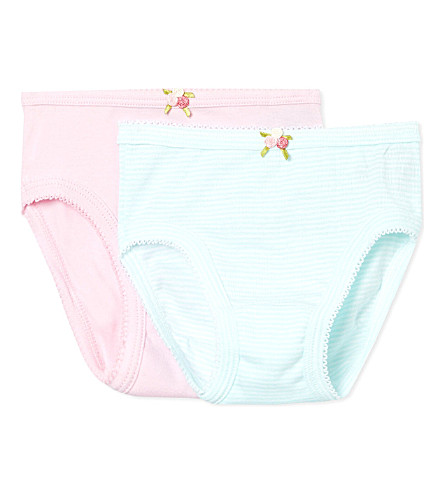 PETIT BATEAU Set of two knickers 2-12 years (Multicolor