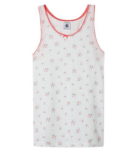 PETIT BATEAU Floral vest top 2-10 years (Off white/multicolor
