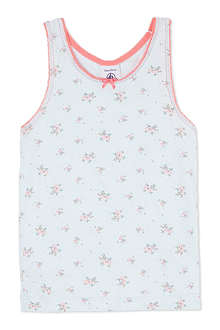 PETIT BATEAU Floral print jersey vest 2-12 years