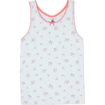 PETIT BATEAU Floral print jersey vest 2-12 years (Multicolor