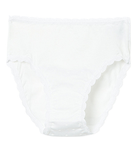 PETIT BATEAU Polka-dot knickers 2-12 years (Off+white