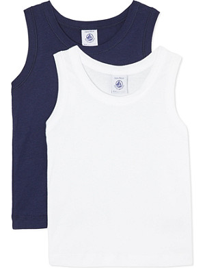 PETIT BATEAU Pack of two vests 2-12 years