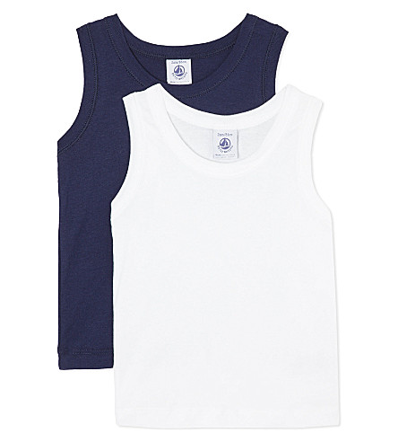 PETIT BATEAU Pack of two vests 2-12 years (Multicolor
