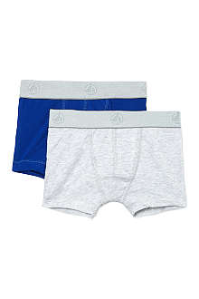 PETIT BATEAU Set of two cotton-stretch boxers 2-12 years