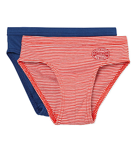 PETIT BATEAU Pack of two cotton briefs 2-12 years (Multicolor