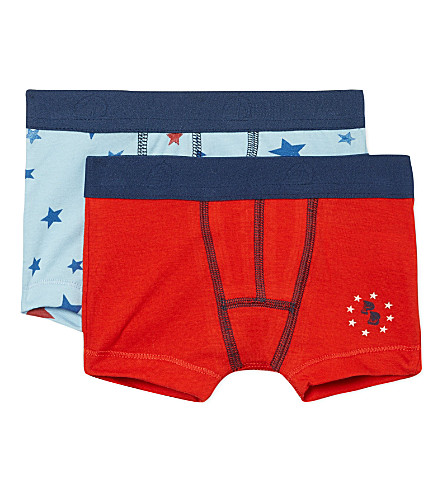 PETIT BATEAU Set of two boxers 2-12 years (Multicolor