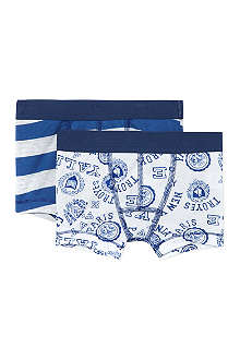 PETIT BATEAU Pack of two printed boxers 2-12 years