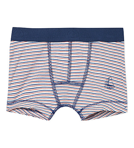 PETIT BATEAU Striped cotton jersey boxers (Multicolor