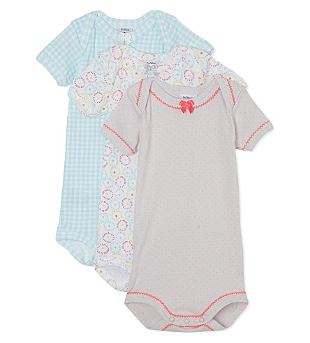 PETIT BATEAU Pack of three bodysuits 1-36 months (Multicolor