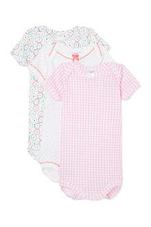 PETIT BATEAU Pack of three bodysuits 1-36 months