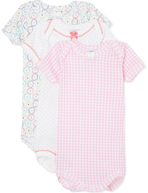 PETIT BATEAU Pack of three babygrow 1-36 months