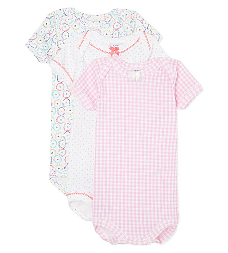 PETIT BATEAU Pack of three babygrow 1-36 months (Multicolor