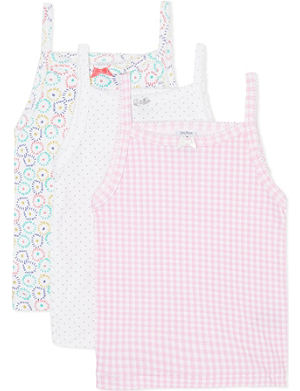 PETIT BATEAU Pack of three vests 2-12 years