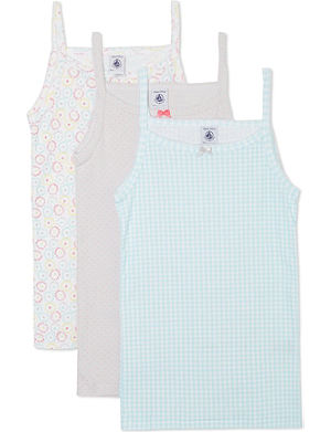 PETIT BATEAU Pack of 3 chemises 2-12 years