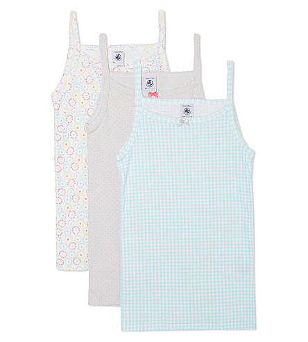 PETIT BATEAU Pack of 3 chemises 2-12 years (Multicolor