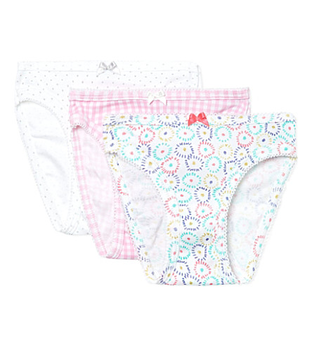 PETIT BATEAU Pack of three pants 2-12 years (Multicolor