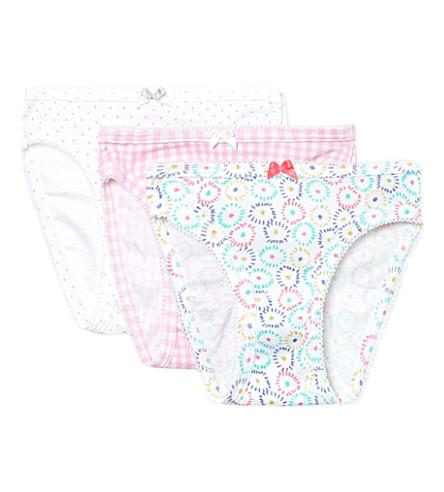 PETIT BATEAU 三件装裤 2-12 岁(多色