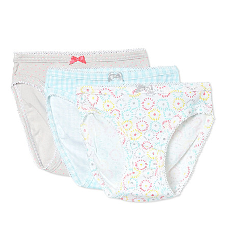 PETIT BATEAU Set of three panties 2-12 years (Multicolor